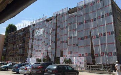 Obnova fasade na ulici Jana Husa 1 in 3