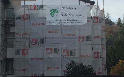 Toplotna izolacija fasade na Gospodinjski ulici 23 v Ljubljani