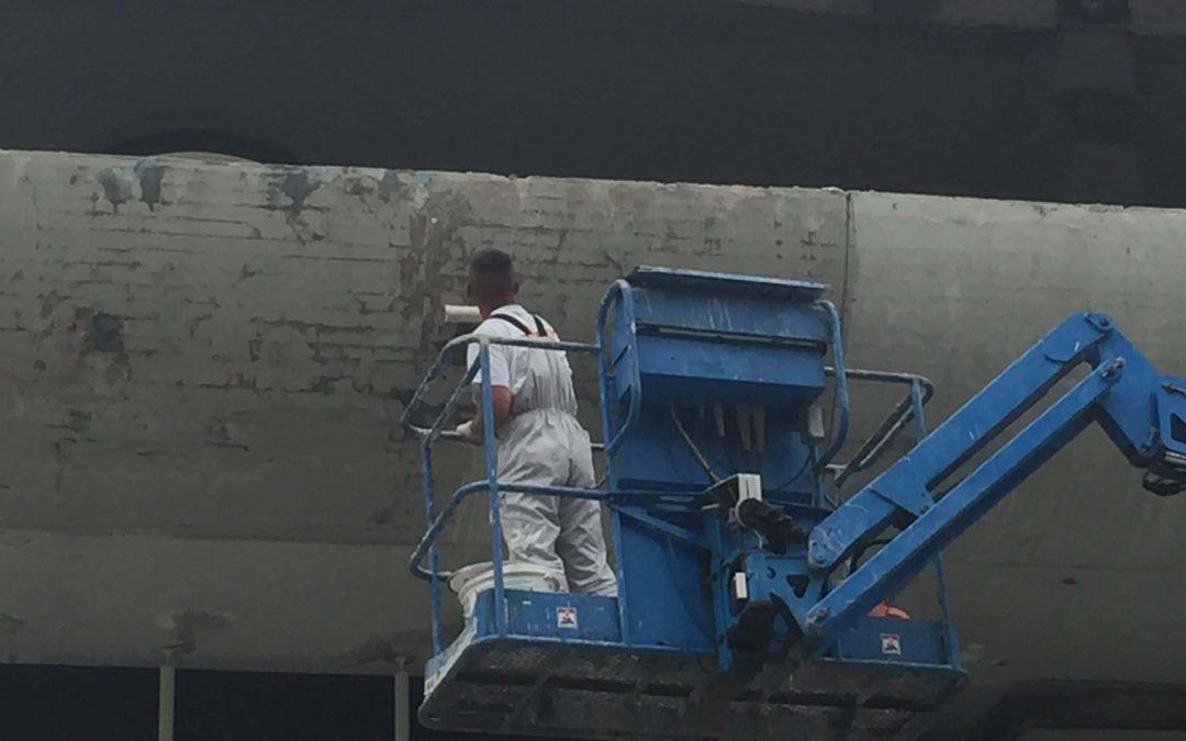 Sanacijska dela napuščev in vidnih betonov Slovenijales PC 1