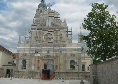 Obnova pročelja bazilike Marije Pomagaj, 2010
